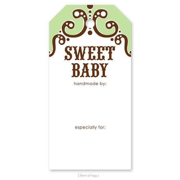 Sweet Baby Green, Gift Tag