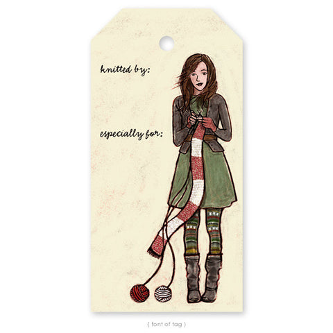 """Winter Knitter"", Gift Tag"