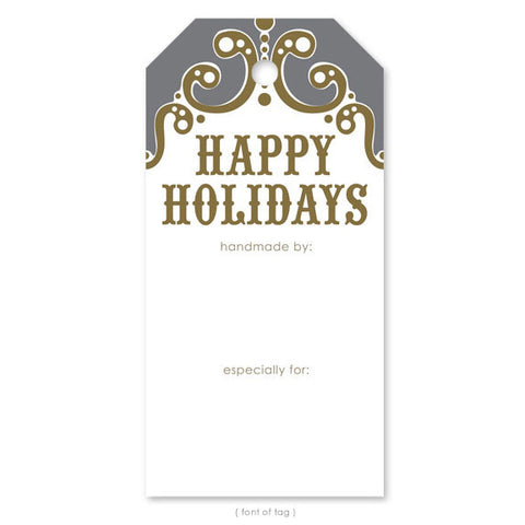 Happy Holidays, Gift Tag