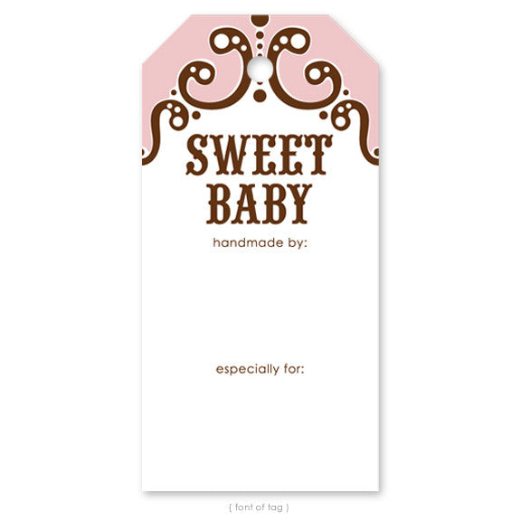 Sweet Baby Pink, Gift Tag