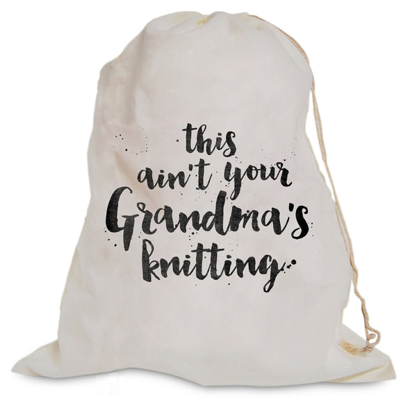 "Project Bag - ""Grandma's Knitting"""