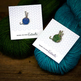 Yarn Ball With Needles - Enamel Pin