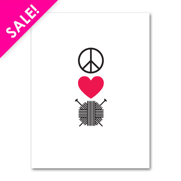 Peace, Love Knit, Note Cards