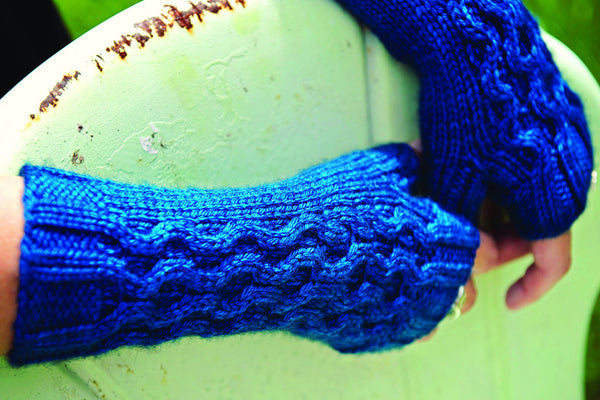 Ripple Effect Fingerless Mitts