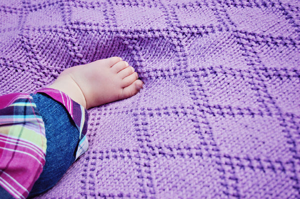 Sweet Lattice Baby Blanket