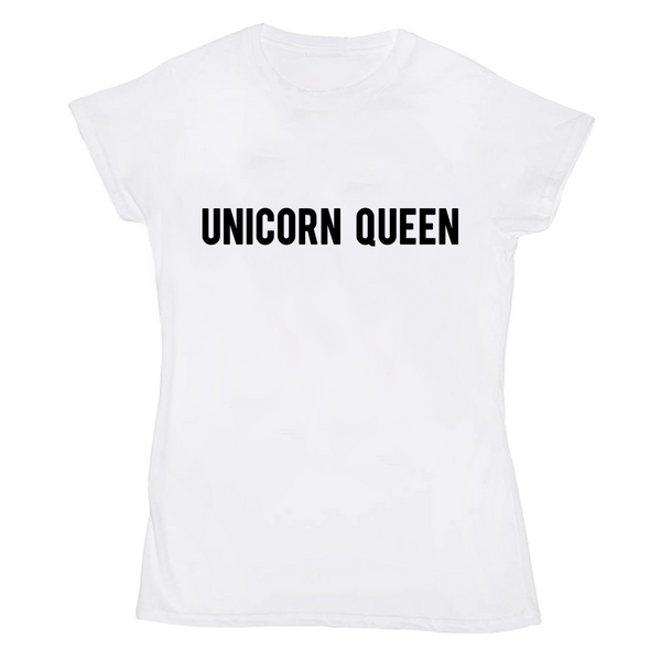 Unicorn Queen White T-Shirt