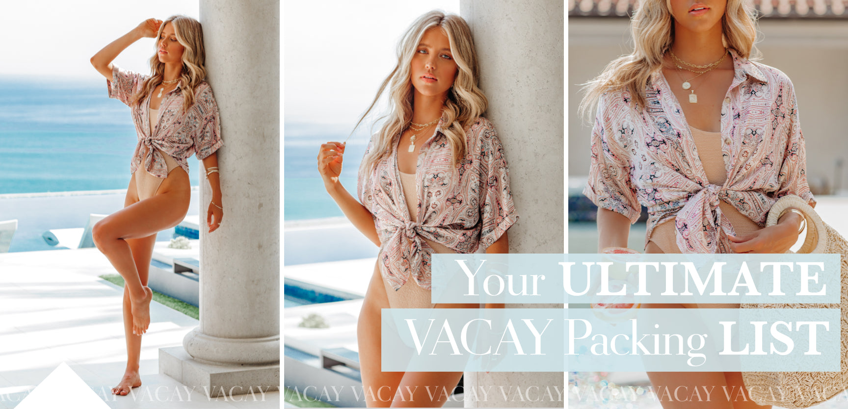 From the deep blue horizons of Naxos to the expansive San Diego beaches, now is the time to declare Out Of Office and jet-set somewhere warmer! Deciding which items make the cut for your inevitably overcrowded carry-on can be tricky. Don't fret, VICI is here to judge which items are absolutely essential to achieve that beach to bar look!