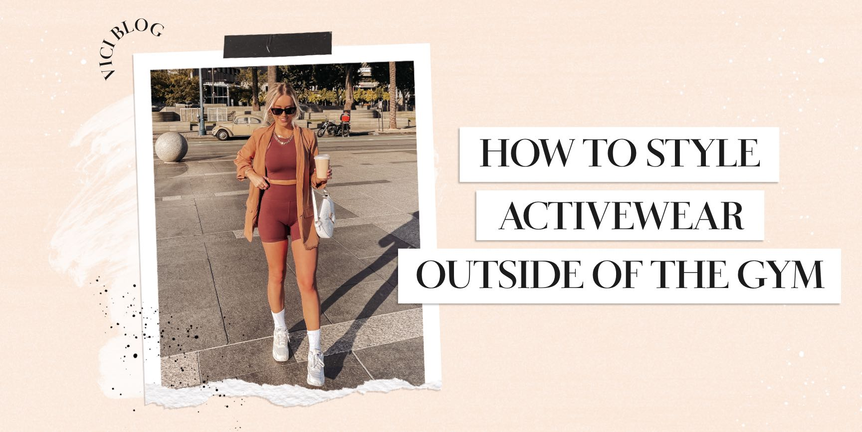 If we've learned anything from our previous year spent indoors, it's that comfort is KEY when it comes to getting dressed again. Gone are the days of spending 9-5 in stiff denim! There are so many fun ways to style your matching workout set outside of the gym. Even if you have no actual plans to break a sweat, stretchy shorts and fitted tanks are a great foundation for a trend-forward 'fit.   In efforts to achieve that Hailey Beiber cool girl style, we're sharing our top three favorite ways to style activewear in everyday life. Whether you're slowly strolling a farmer's market on a sunday, going for that business-meets-casual look, or meeting up with friends for a night out in the city, we're here to inspire you with sporty chic vibes! Shop VICI Activewear
