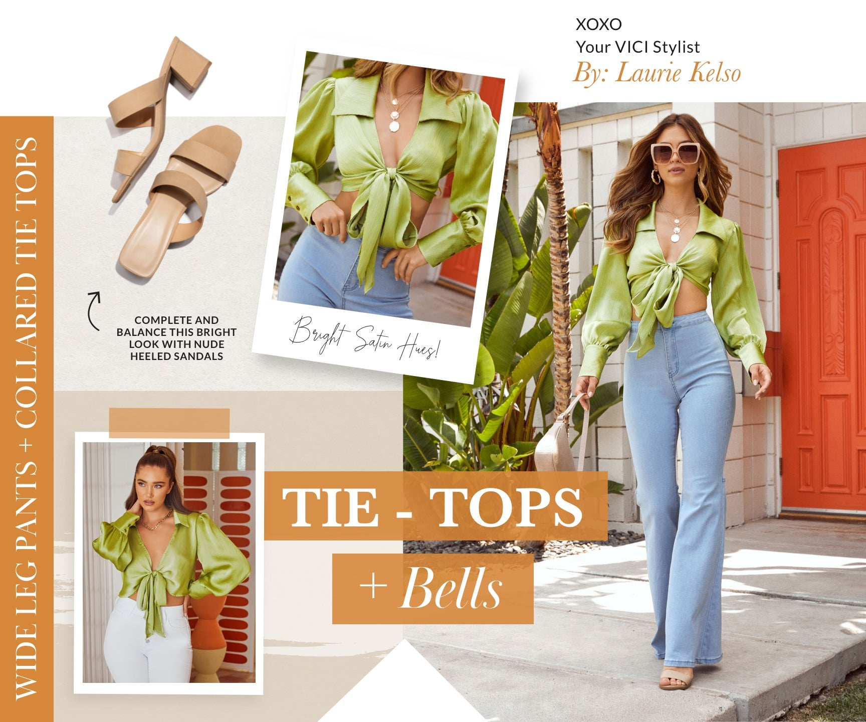Wide leg pants are a trend that we are happily carrying over from Fall '20. Who wants to buy new jeans with each changing season? Freshen up your favorite light wash pair with a collared tie top. Bonus points for finding one in a bright satin hue that transitionals flawlessly from Summer to Fall. Shop Flared Denim