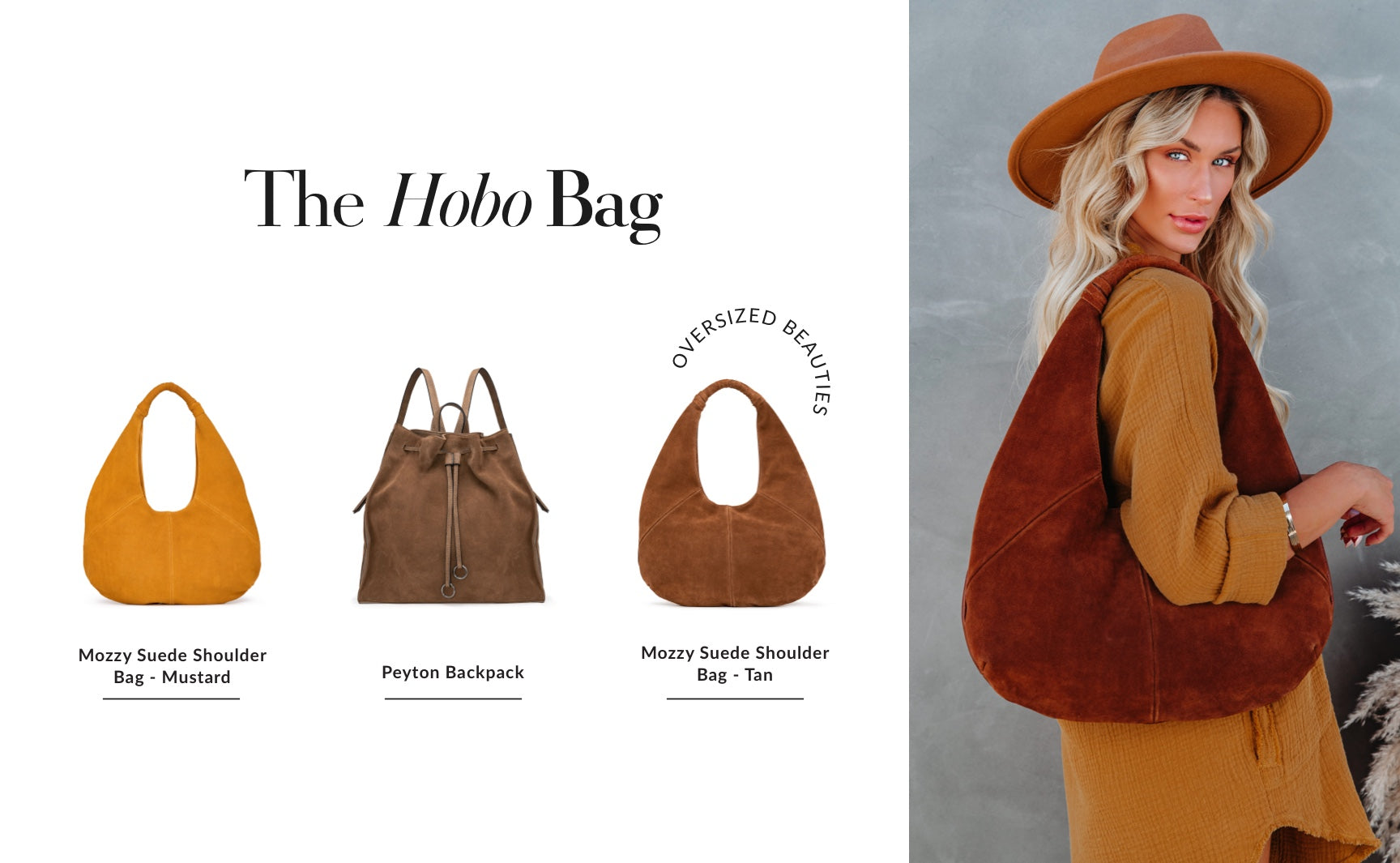 As you may have noticed, relaxed is the theme here. Even your handbag needs a little bit of a slouch! Find a faux suede one in a mustard or mocha shade so as to complement literally everything in your closet. These oversized beauties will hold all of your work to weekend essentials. Shop Hobo Handbags