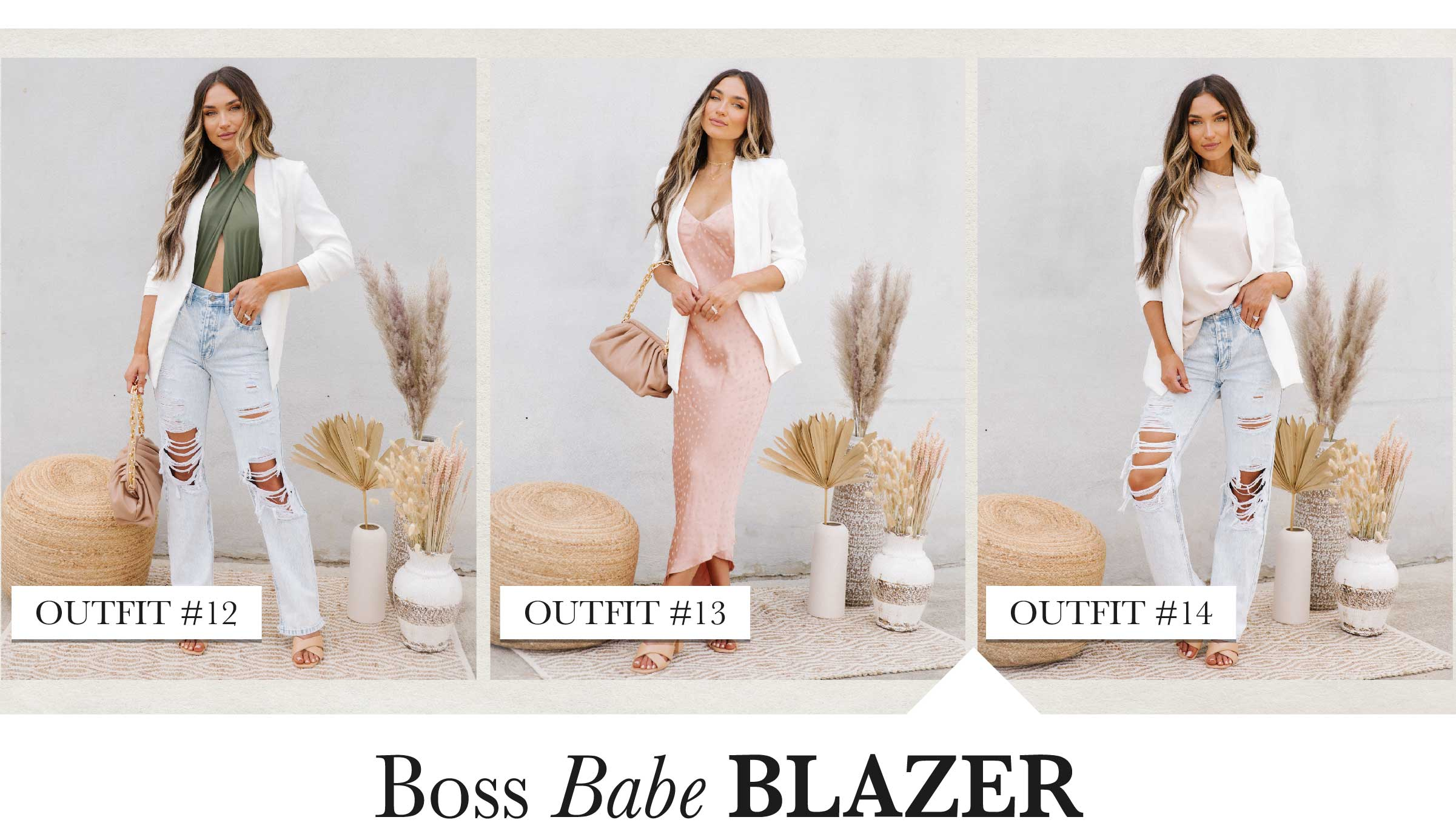 Not only does a blazer scream sophistication, it's the perfect layer of warmth over that new silky lace dress in your closet that you've been dying to rip the tags off of. A piece like this truly never goes out of style!