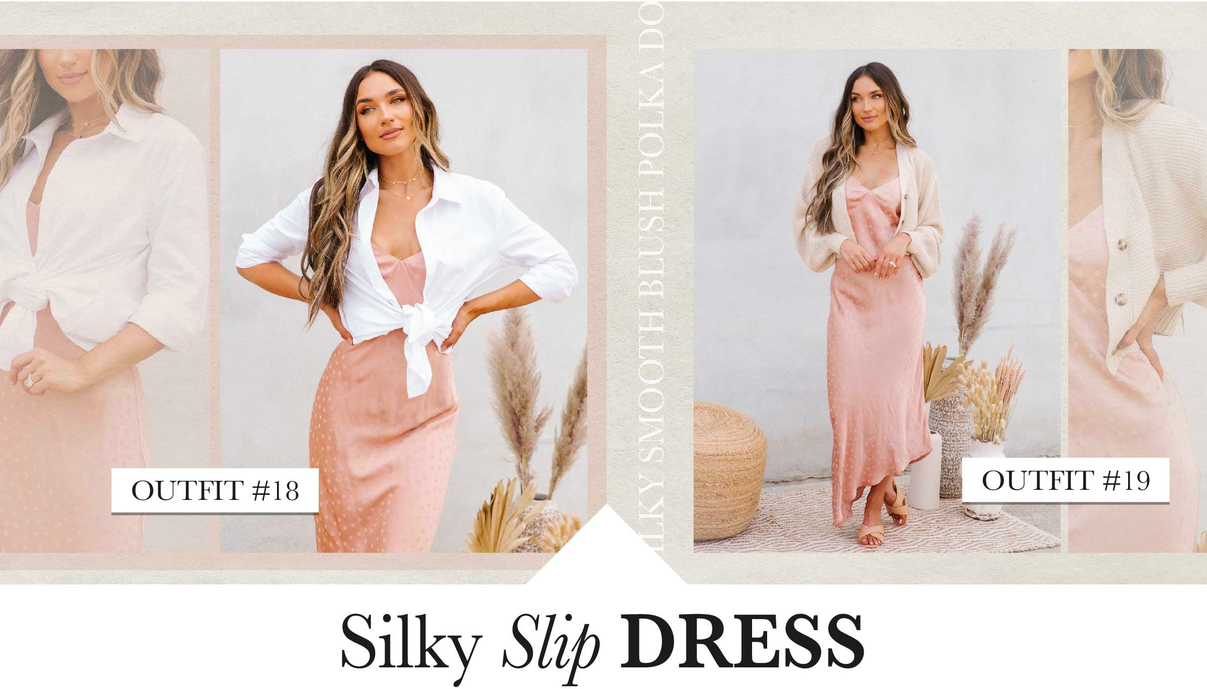 Say goodbye to stuffy and suffocating clothes as the weather heats up!  We adore the breathability of a  lightweight slip dress. This barely-there beauty will hardly take up any space in your suitcase. Wear it to an outdoor wedding paired with kitten heels, or shopping around town paired with casual sandals. She truly does it all!