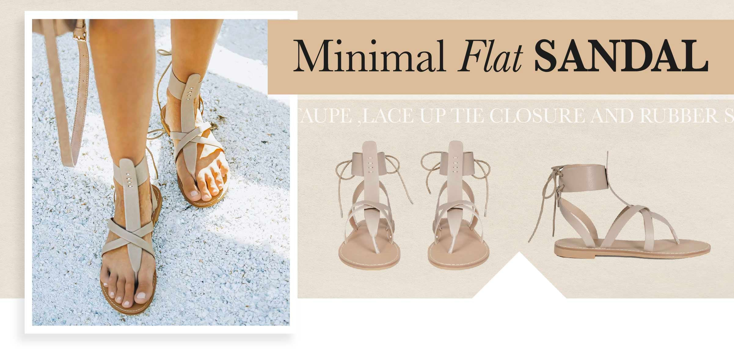 Minimal is having a moment right now, and we're here for it!  A pair of barely-there sandals give off the ultimate casual weekend vibes. All you need to complete the look are perfectly pedicured toenails. Treat yourself!