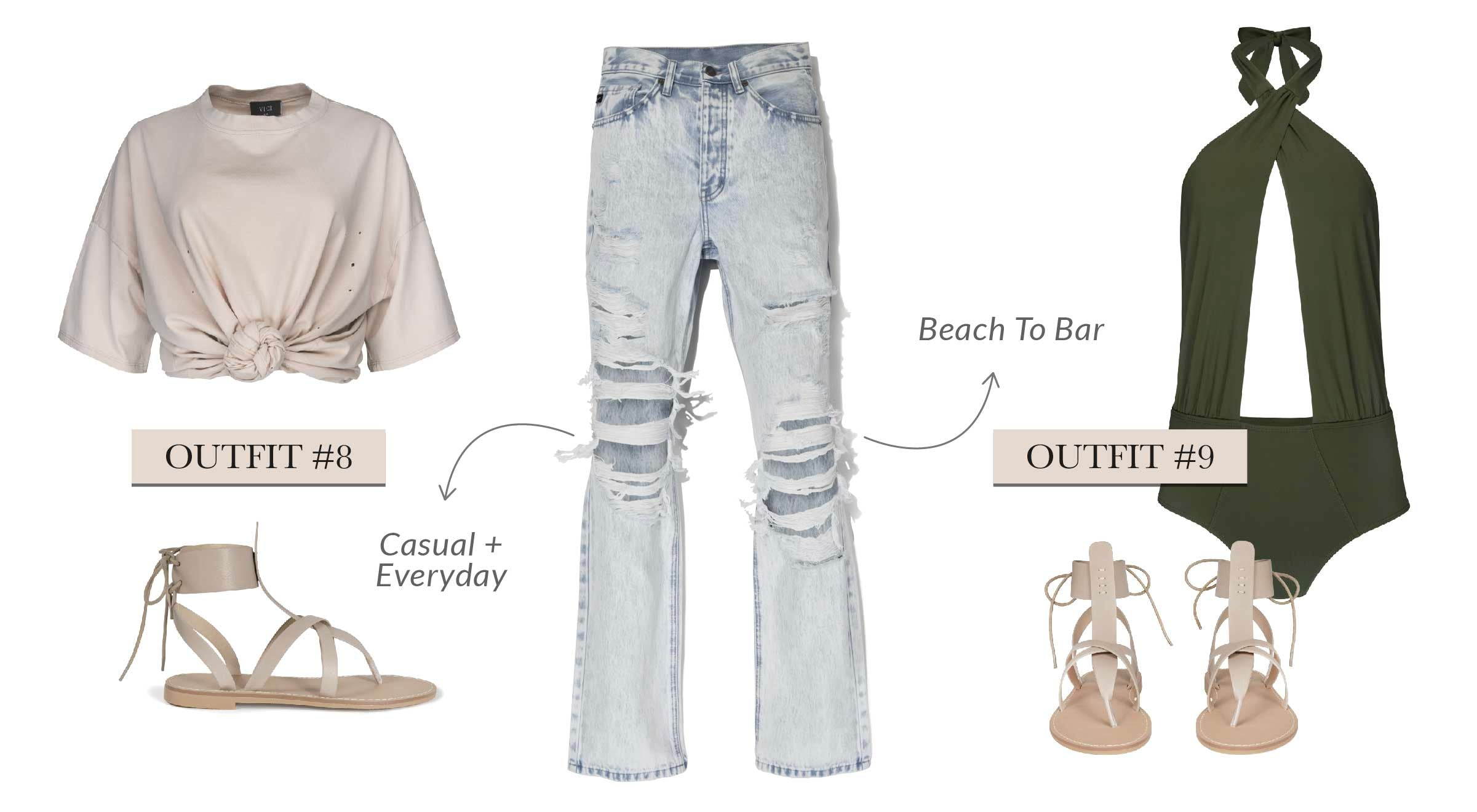 We are sending a warm welcome to all of the cute 90's styles creeping their way back in (with the exception of low rise jeans, goodbye.) This reimagined style will be the only pair of denim you'll need to pack for your weekend away!