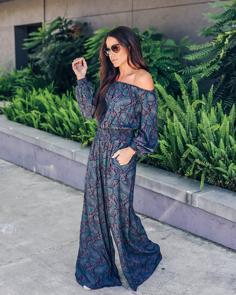 Gimme More Paisley Pocketed Jumpsuit