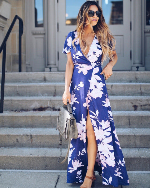 Sunset View Wrap Dress