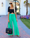 Chic La Vie Tie Pants - Kelly Green - FINAL SALE