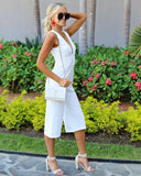 Pedregal Sleeveless Jumpsuit - White - FINAL SALE