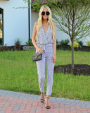 For The Win Striped Jumpsuit - FINAL SALE