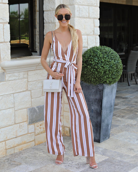 Kandy Striped Pocketed Jumpsuit