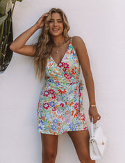 Barrera Cotton Blend Floral Mini Dress view 9