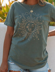 Moon And Sun Phases Cotton Tee view 4