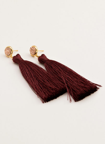 GORJANA - Astoria Tassel Earrings - Bordeaux