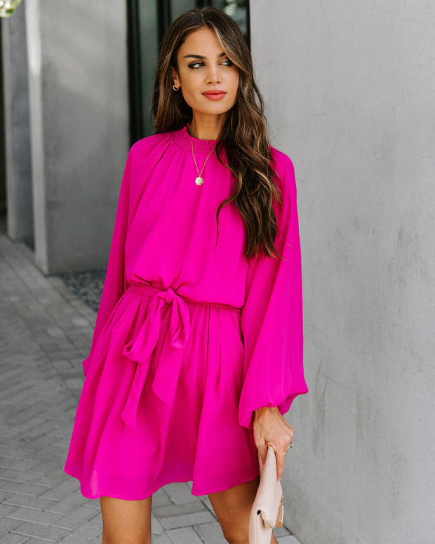 Splash Of Color Smocked Tie Dress