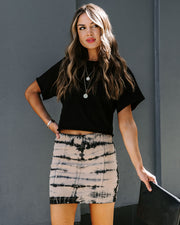 Free To Be Me Cotton Tie Dye Mini Skirt