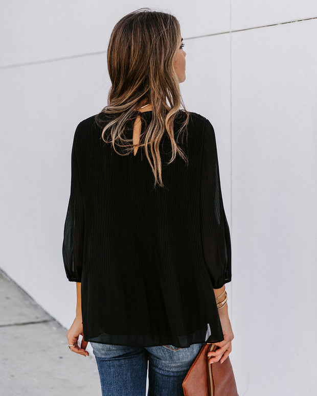Midnight Sky Plisse Blouse