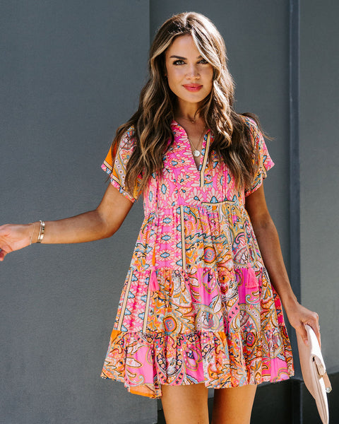 Funky Town Tiered Babydoll Tunic
