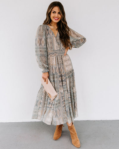 Louisa Smocked Tiered Midi Dress