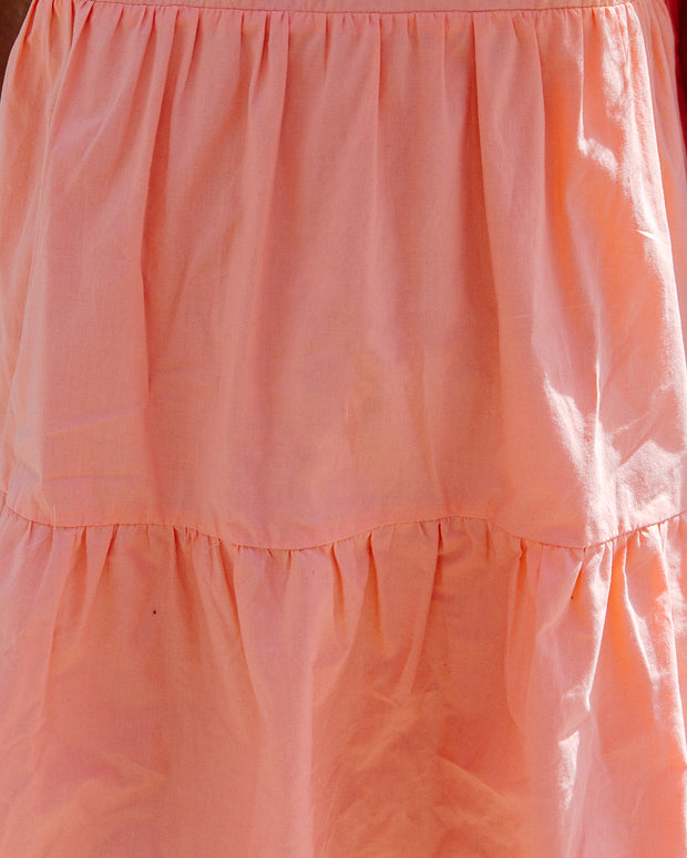 Afternoon Delight Pocketed Babydoll Dress - Cantaloupe