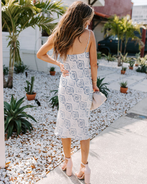 Have A Little Fun Printed Midi Slip Dress - FINAL SALE
