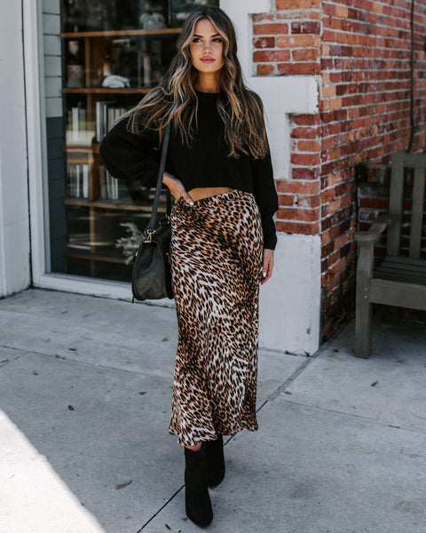 Marbles Leopard Midi Skirt - FINAL SALE