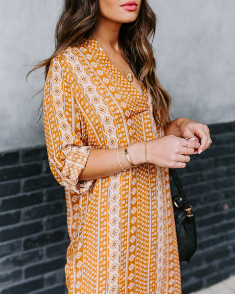 Wistful Affection Printed Tunic - Marigold - FINAL SALE