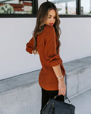 Season Of Giving Wrap Sweater - Caramel