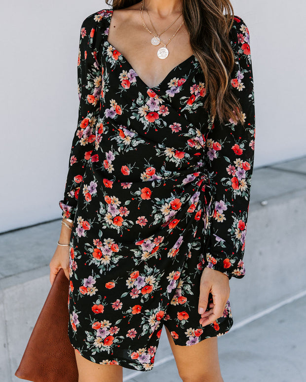 Called To Say I Love You Floral Ruched Dress - FINAL SALE