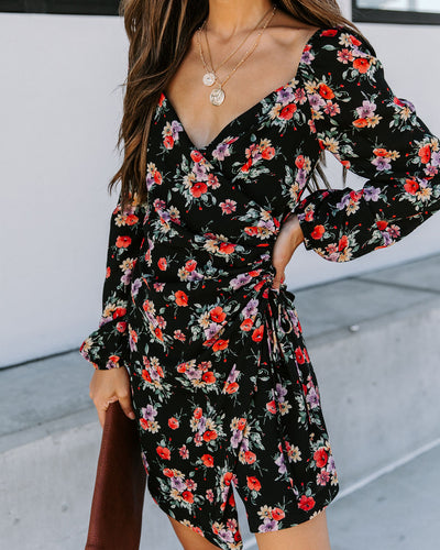 Called To Say I Love You Floral Ruched Dress