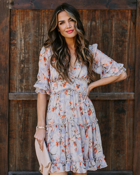 Gingerlily Floral Ruffle Dress