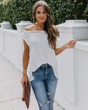 Made The Cut Sleeveless Knit Top - Off White
