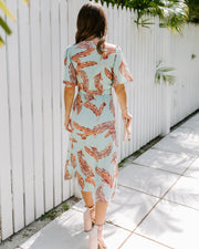 With The Seasons Floral Button Down Midi Dress - FINAL SALE