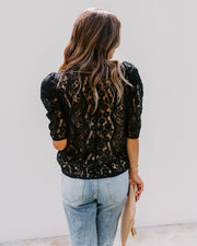 Jamal Lace Puff Sleeve Top- FINAL SALE