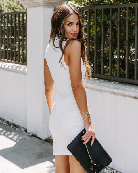 In Your Dreams Asymm Bodycon Dress - Ivory
