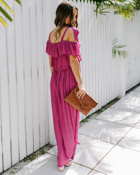 Prosperity Pocketed Tie Maxi Dress - Orchid  - FINAL SALE