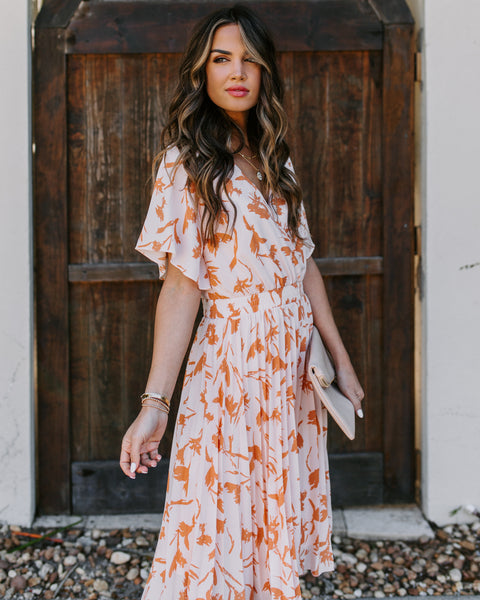 Georgia Peaches Pleated Dress