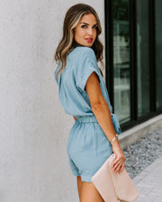 PREORDER - Donnelly Cotton Pocketed Button Down Romper