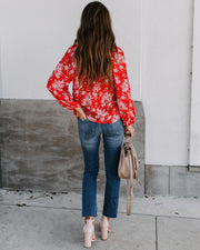 Feisty Smocked Floral Blouse