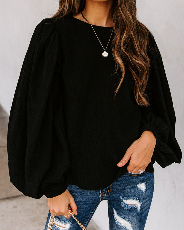 Take Five Balloon Sleeve Blouse
