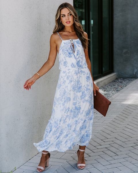 Look Within Floral Tie Midi Dress